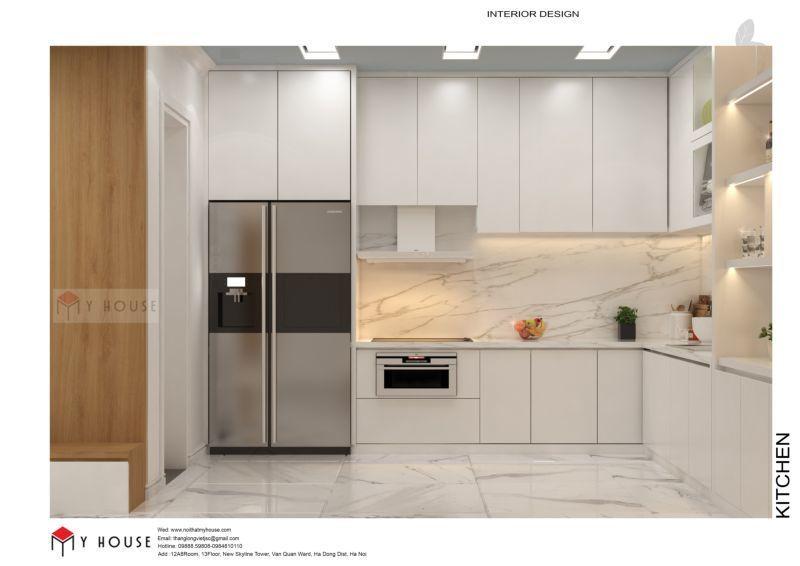 Mẫu thiết kế nội thất căn hộ 60,7m2 - View 3