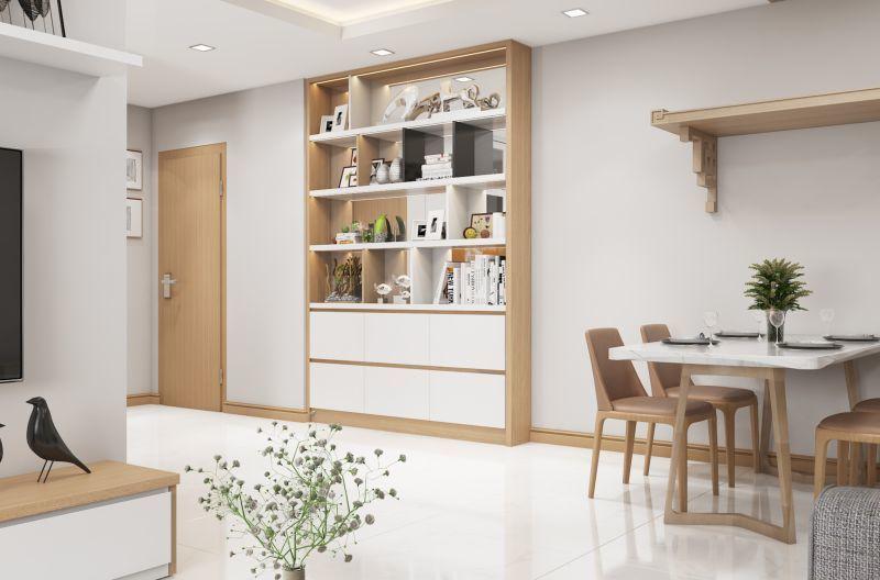 Mẫu thiết kế nội thất căn hộ 60,7m2 - View 2