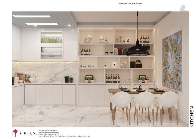 Mẫu thiết kế nội thất căn hộ 60,7m2 - View 4