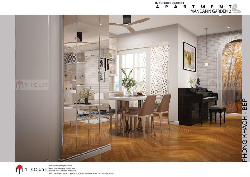 Mẫu thiết kế nội thất căn hộ 102,9m2 - View 3