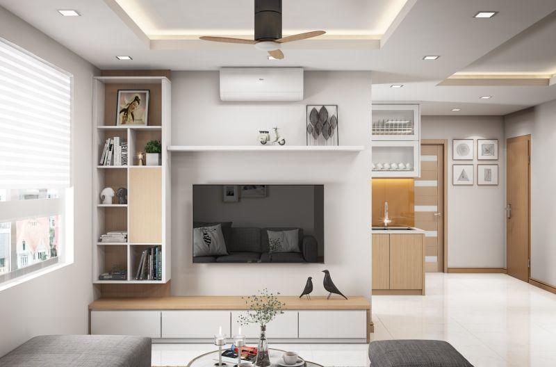 Mẫu thiết kế nội thất căn hộ 60,7m2 - View 1