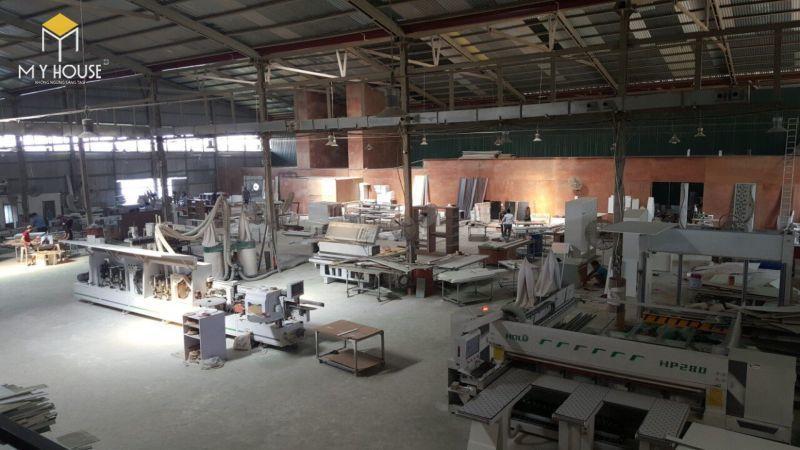 Quy mô nhà máy sản xuất nội thất