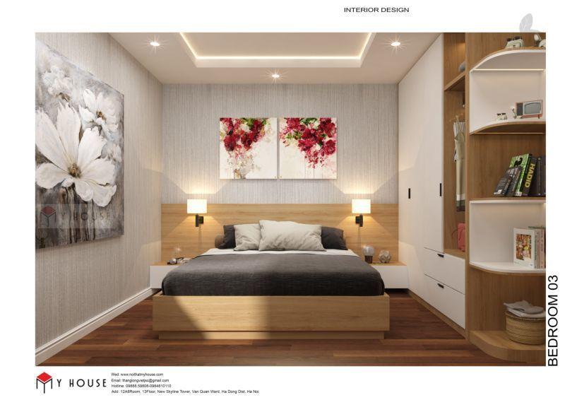 Mẫu thiết kế nội thất căn hộ 60,7m2 - View 5