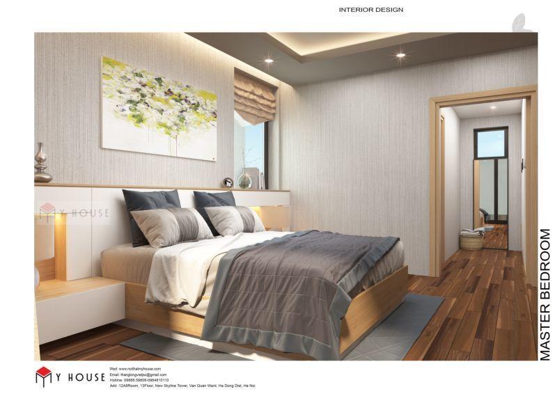 Mẫu thiết kế nội thất căn hộ 60,7m2 - View 6