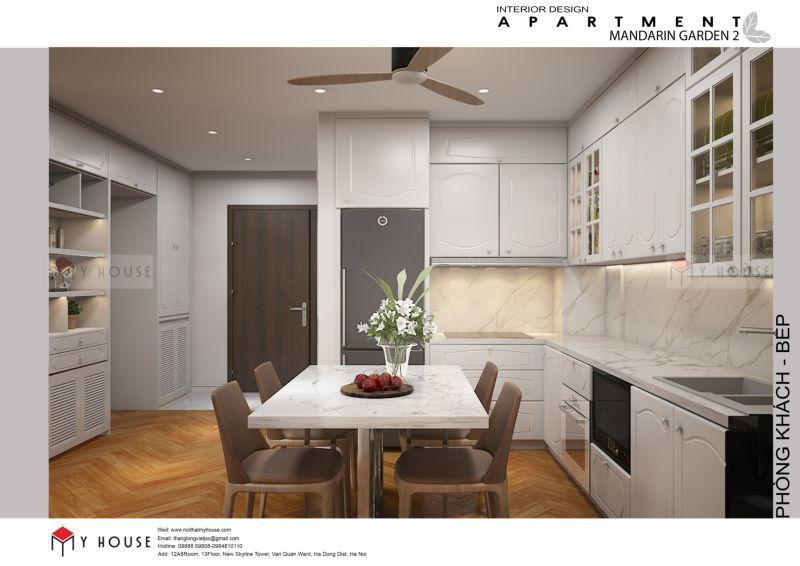 Mẫu thiết kế nội thất căn hộ 102,9m2 - View 2