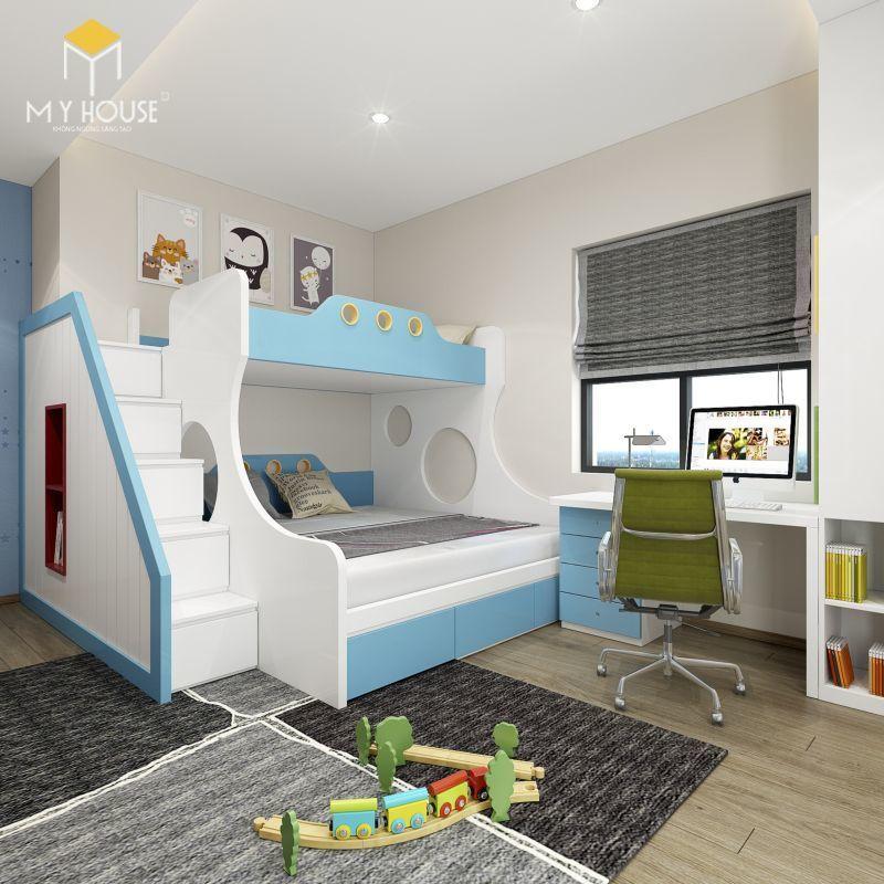Mẫu thiết kế nội thất căn hộ 100m2 - View 7