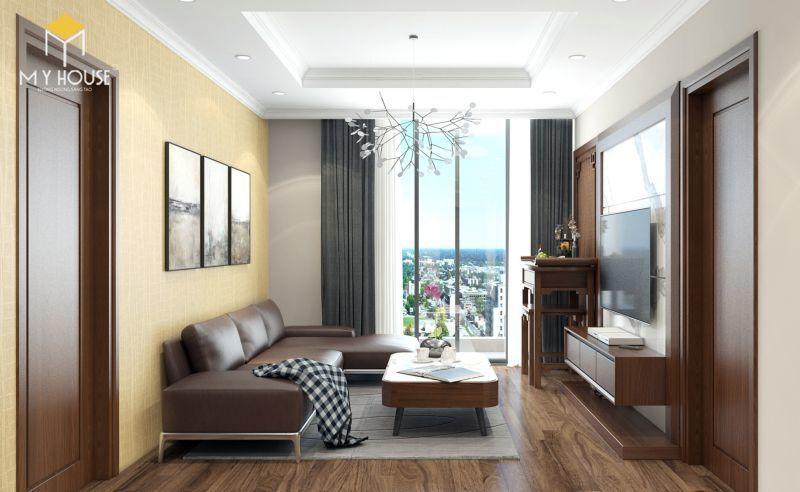 Mẫu thiết kế nội thất căn hộ 100m2 - View 1