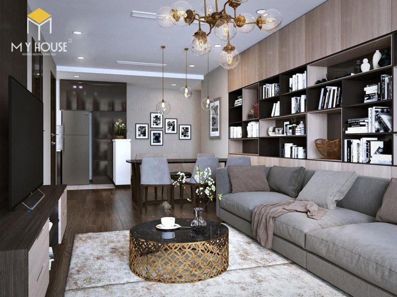 Mẫu thiết kế nội thất căn hộ 145m2 - View 1