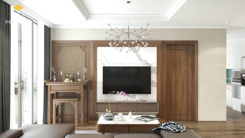 Mẫu thiết kế nội thất căn hộ 100m2 - View 2