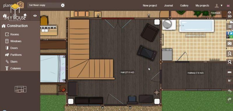 Sau khi đã hoàn thiện kết cấu của nhà là tới lúc thêm kiến trúc nội thất và ngoại thất cho bản thiết kế