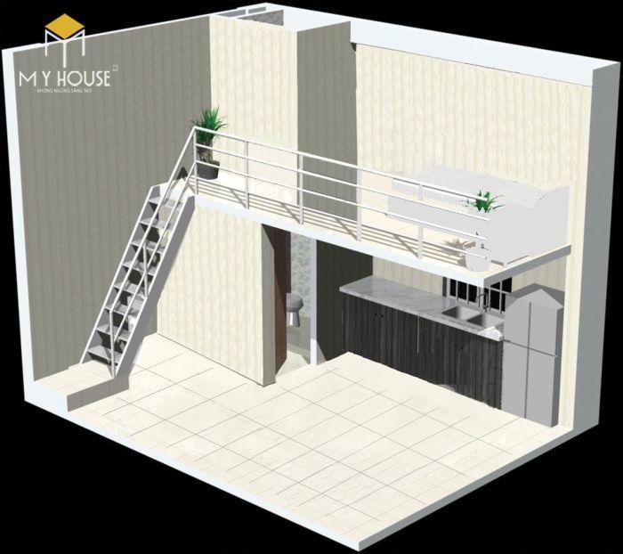 Bố trí thiết kế không gian phòng trọ tiện ích - M4