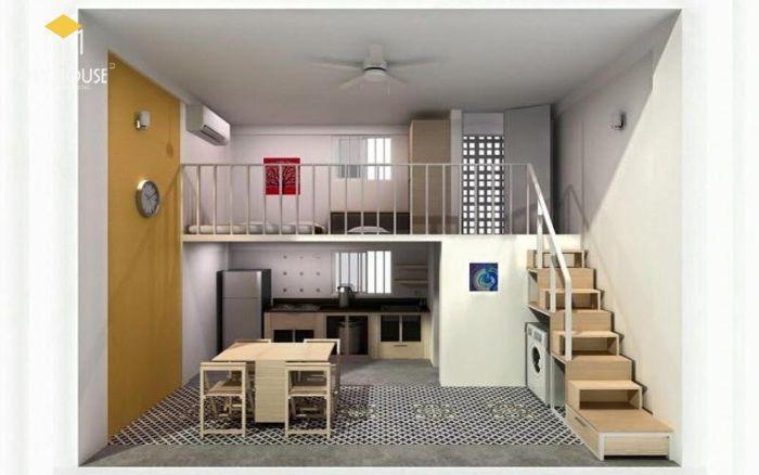 Bố trí thiết kế không gian phòng trọ tiện ích - M5
