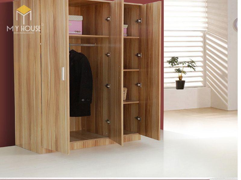 Mẫu tủ quần áo gỗ công nghiệp 2 cánh