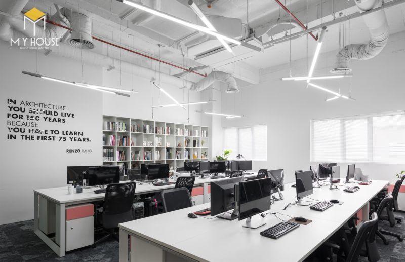Thiết kế nội thất văn phòng phong cách mở - View 1