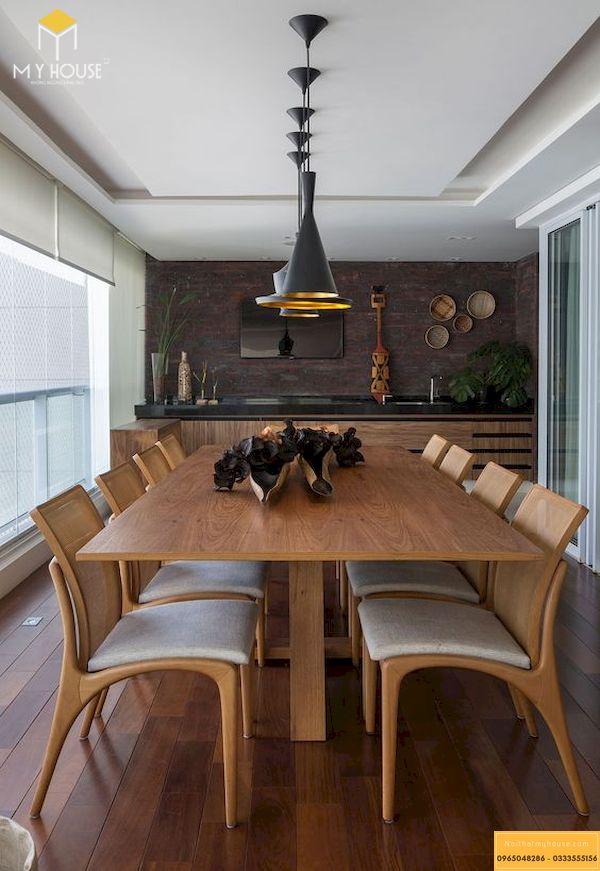 Mẫu bàn ăn gỗ sồi 8 ghế hiện đại
