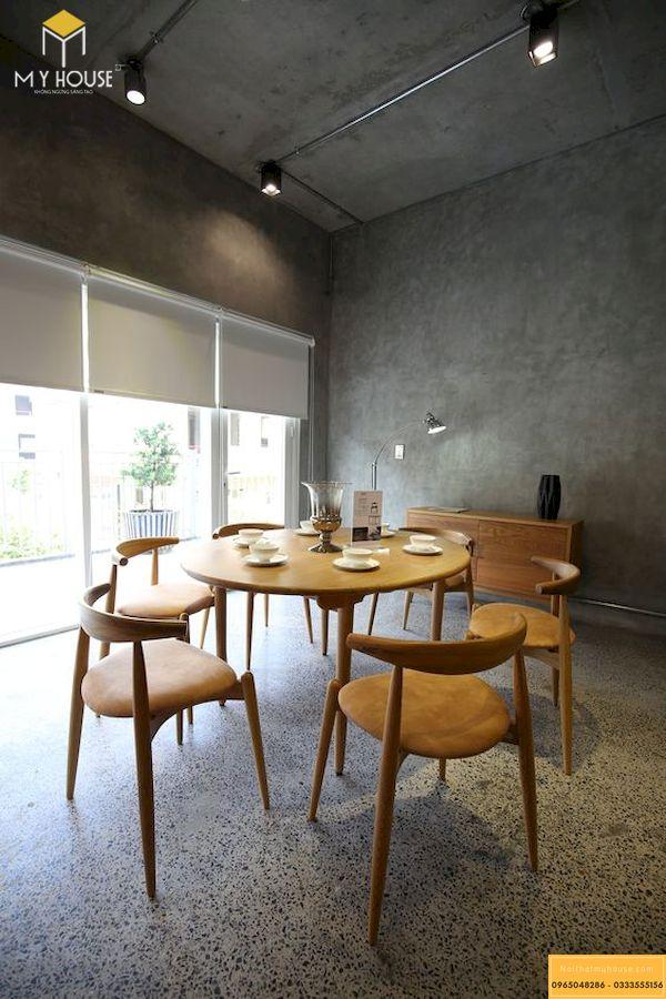 Mẫu bàn ăn gỗ sồi tự nhiên 6 ghế hiện đại