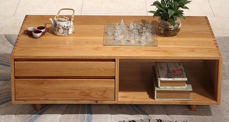 Bàn trà gỗ tự nhiên thiết kế đơn giản tinh tế - M1