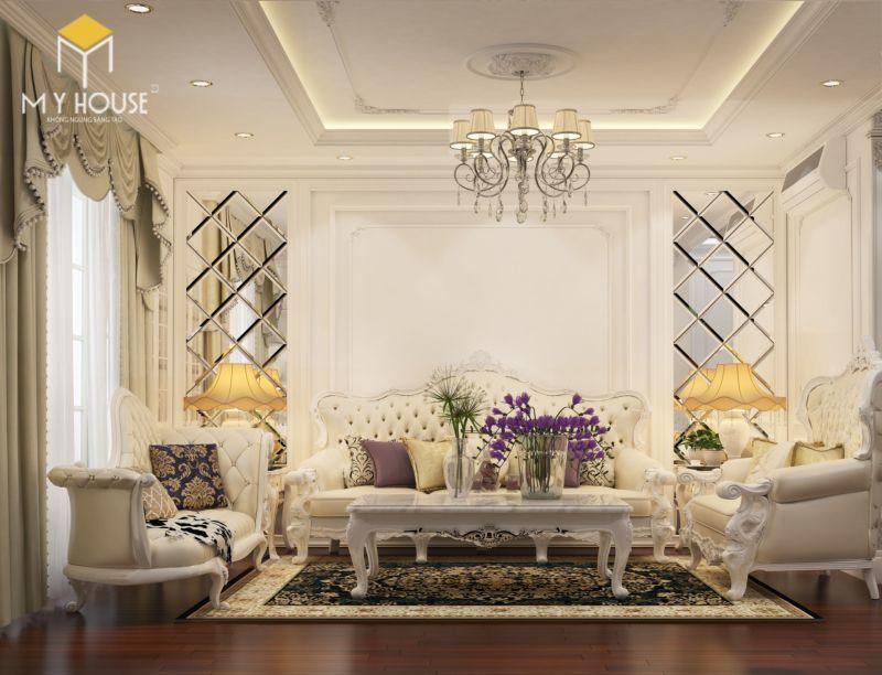 Mẫu thiết kế nội thất tân cổ điển đẹp 2021 - View 2