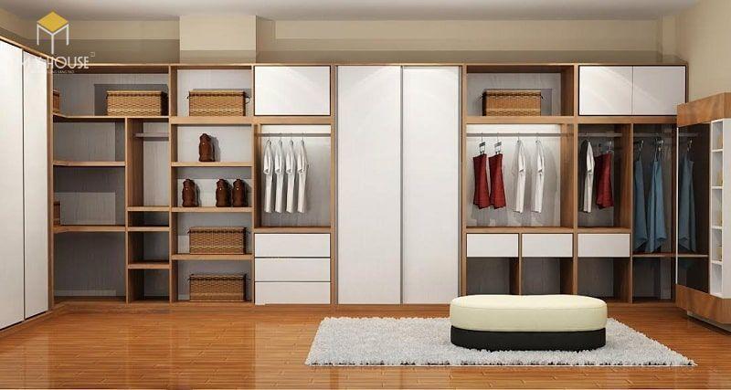 Tủ quần áo thiết kế ấn tượng sang trọng 2019 - M3