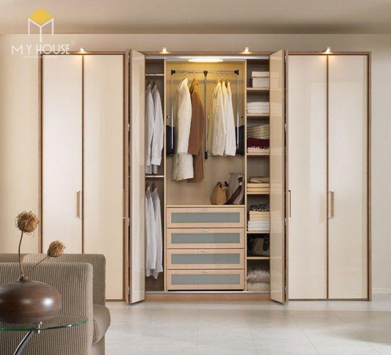 Tủ quần áo thiết kế ấn tượng sang trọng 2019 - M5