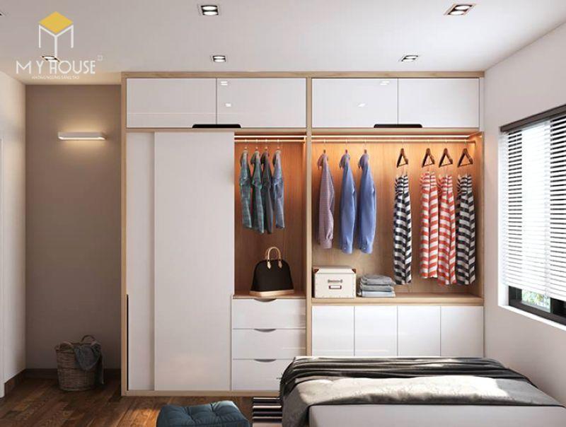 Tủ quần áo thiết kế ấn tượng sang trọng 2019 - M12