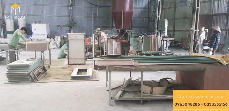 Một số máy móc tại xưởng sản xuất nội thất My House