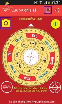 Cách xem la bàn trên điện thoại samsung - B6