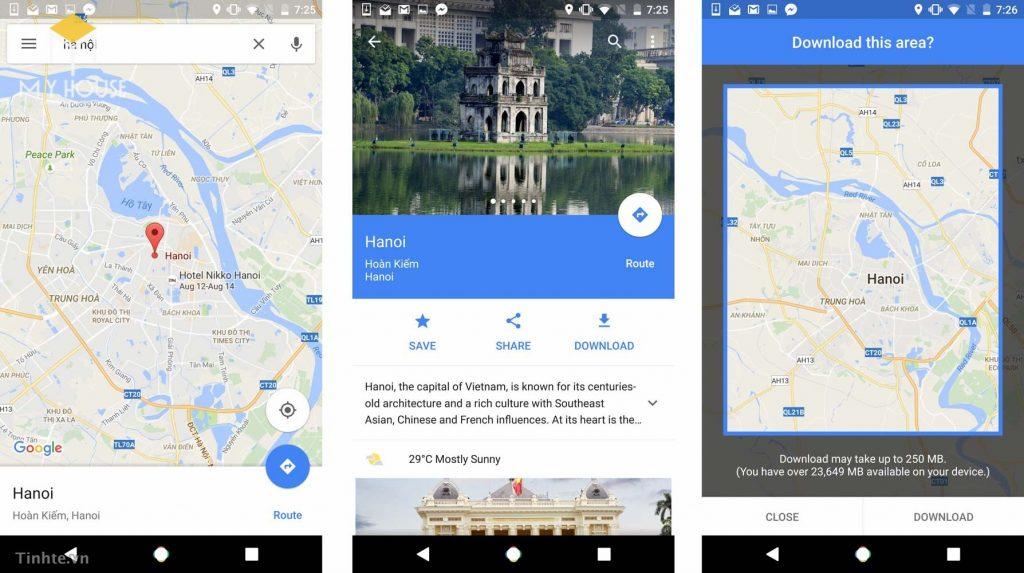 Cách xem la bàn trên google map
