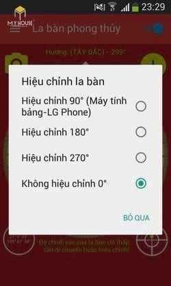 Cách xem la bàn trên điện thoại samsung - B4