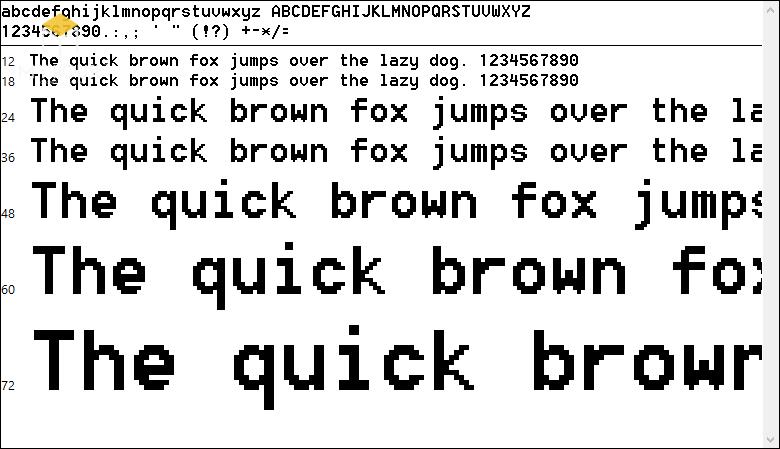 Một số hình ảnh về bộ font SHX