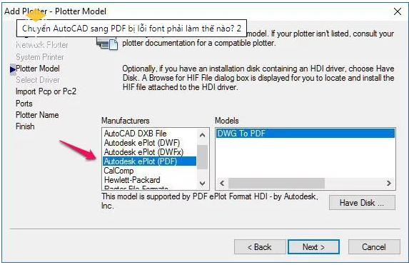 Chuyển AutoCAD sang PDF bị lỗi font