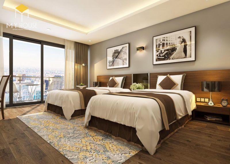 Giường ngủ khách sạn đẹp sang trọng - M3