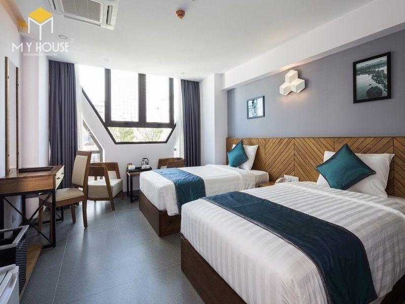 Giường ngủ khách sạn đẹp sang trọng - M4