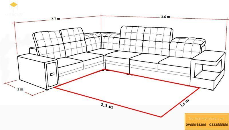 Kích thước sofa phòng khách thiết kế như thế nào đạt tiêu chuẩn đảm bảo đẩm công năng thẩm mỹ