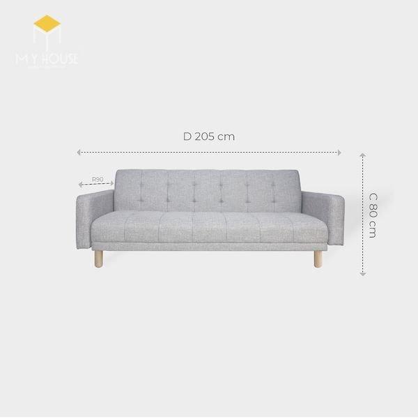 Kích thước sofa văng: R 90 x D 205 cm x C 80 cm