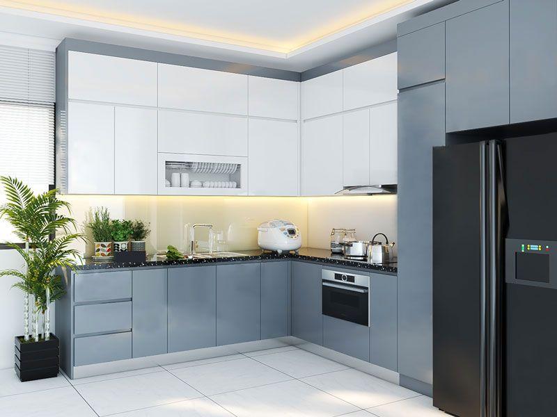 Mẫu tủ bếp đạt tiêu chuẩn chất lượng và thẩm mỹ - M14