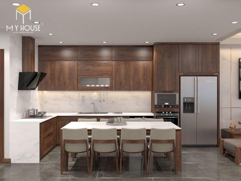 Mẫu tủ bếp đạt tiêu chuẩn chất lượng và thẩm mỹ - M7
