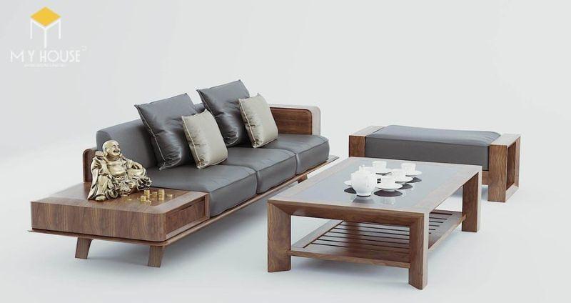 Bàn ghế sofa gỗ thiết kế hiện đại cao cấp - M8