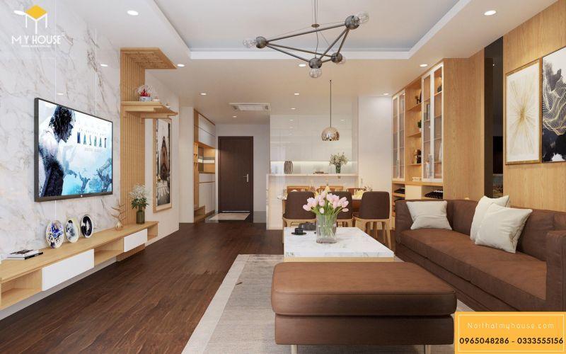Mẫu thiết kế nội thất căn hộ hiện đại - View 5
