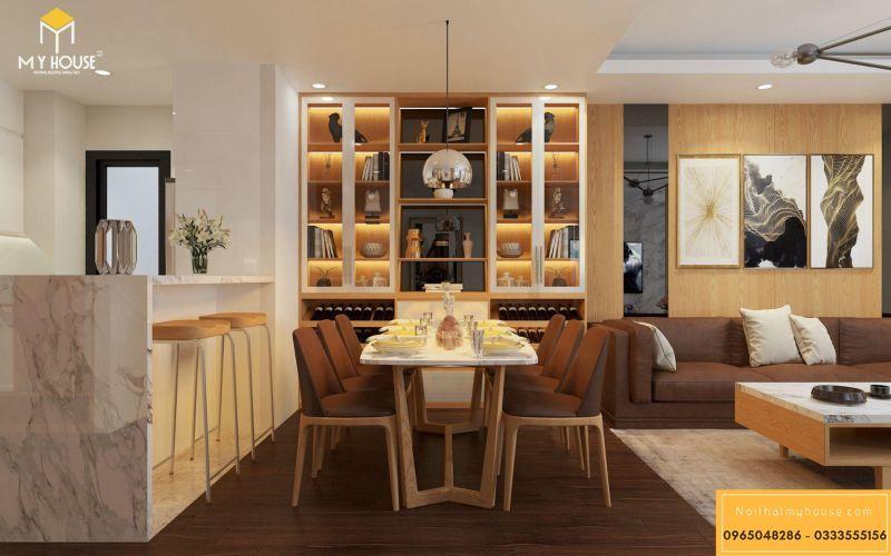 Mẫu thiết kế nội thất căn hộ hiện đại - View 4