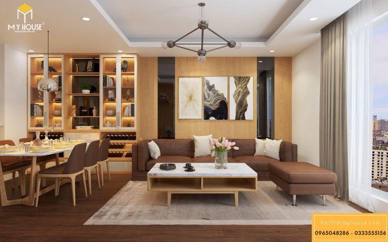 Mẫu thiết kế nội thất căn hộ hiện đại - View 2