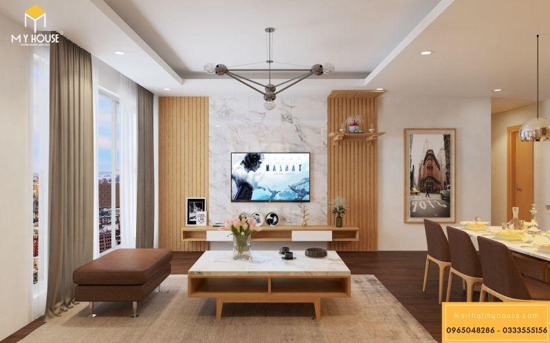Mẫu thiết kế nội thất căn hộ hiện đại - View 3
