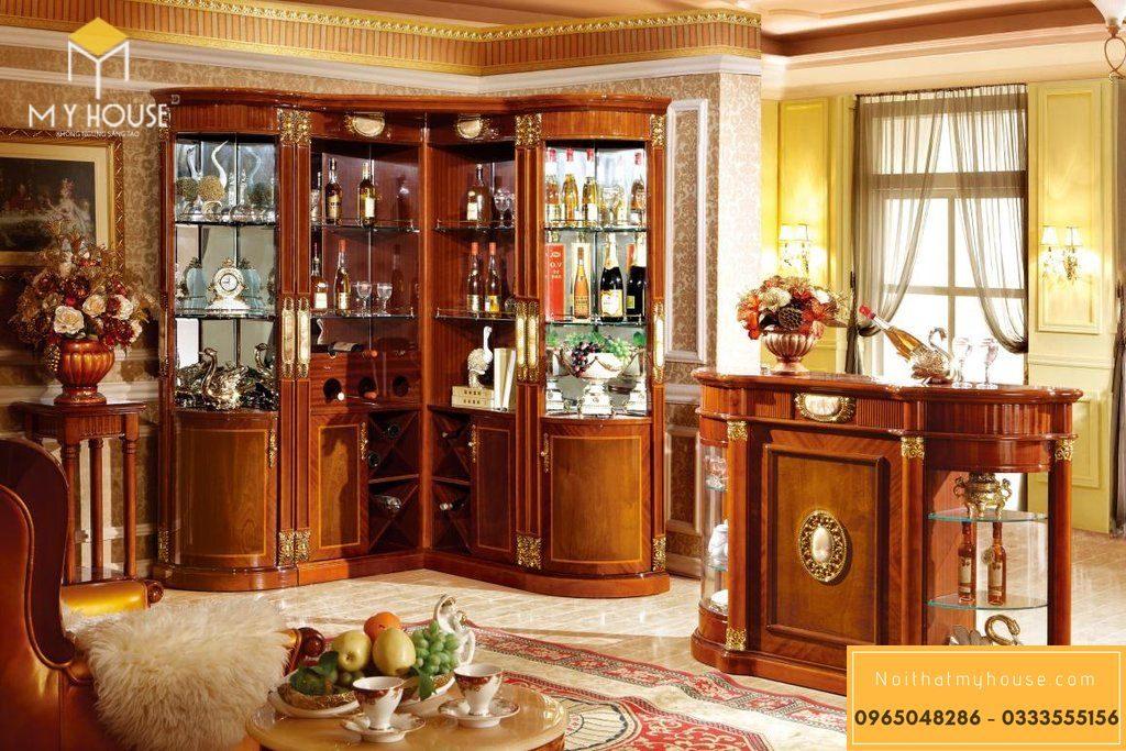 Đây là dòng tủ rượu phòng khách rất được ưu chuộng hiện nay với thiết kế dành riêng cho nhưng góc trong căn phòng