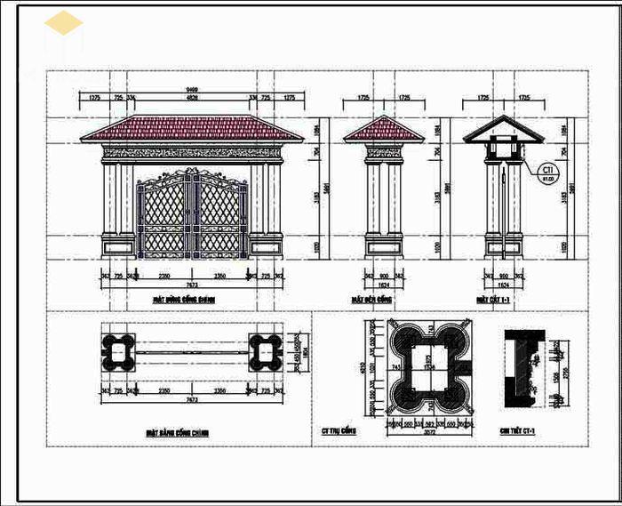 Bản vẽ thiết kế kết cấu biệt thự