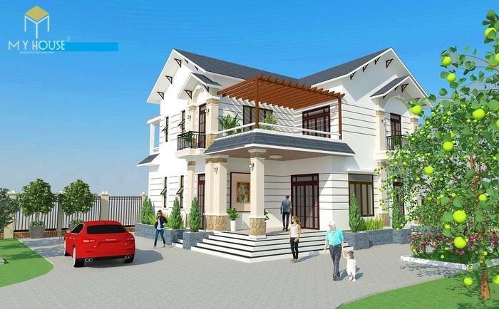 Bản vẽ kiến trúc nhà biệt thự vườn - V2