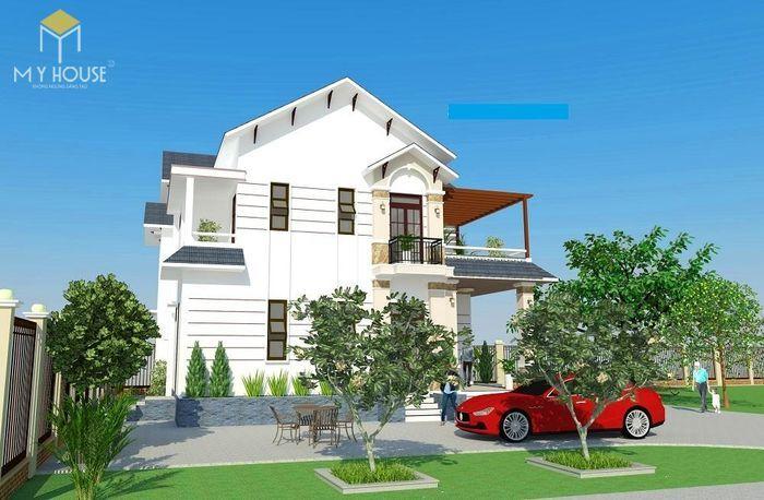 Bản vẽ kiến trúc nhà biệt thự vườn - V1