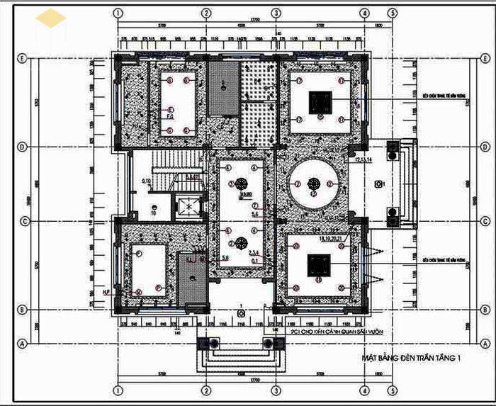 Bản vẽ thiết kế kết cấu điện - nước biệt thự