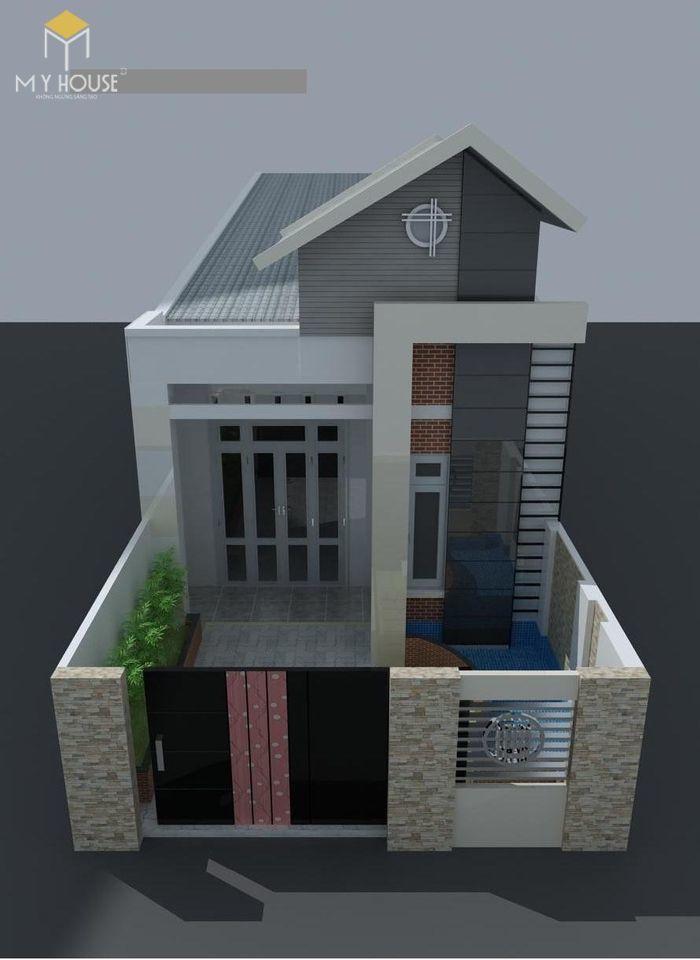 Bản vẽ kiến trúc nhà cấp 4 - V1