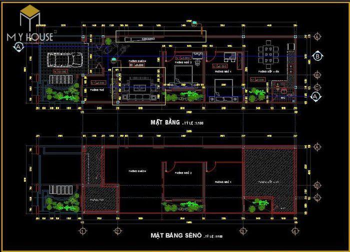Bản vẽ kiến trúc nhà cấp 4 - V4