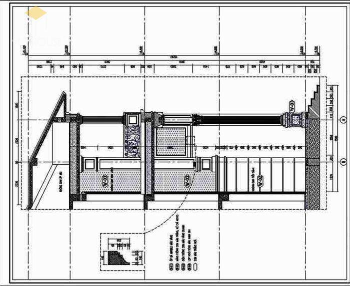 Bản vẽ kiến trúc biệt thự các mặt cắt